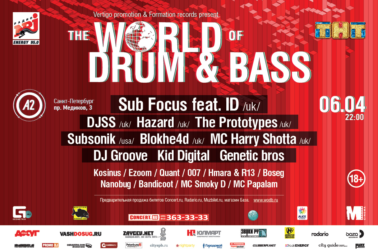 The World of Drum&Bass, Санкт-Петербург, 06.04.13