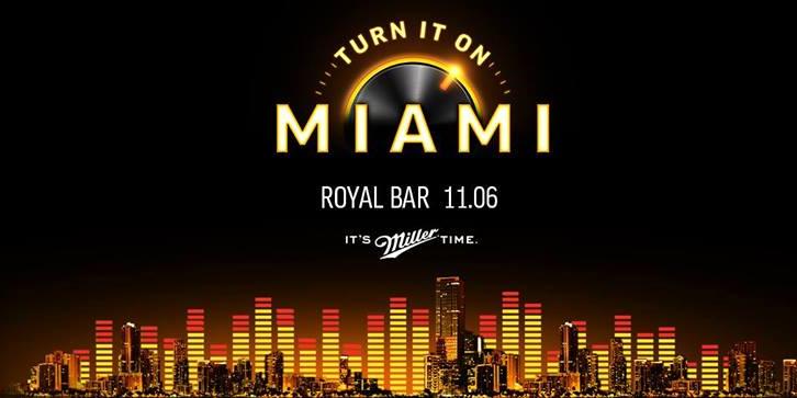 Miller. Turn It On. Miami, Москва, 11.06.14
