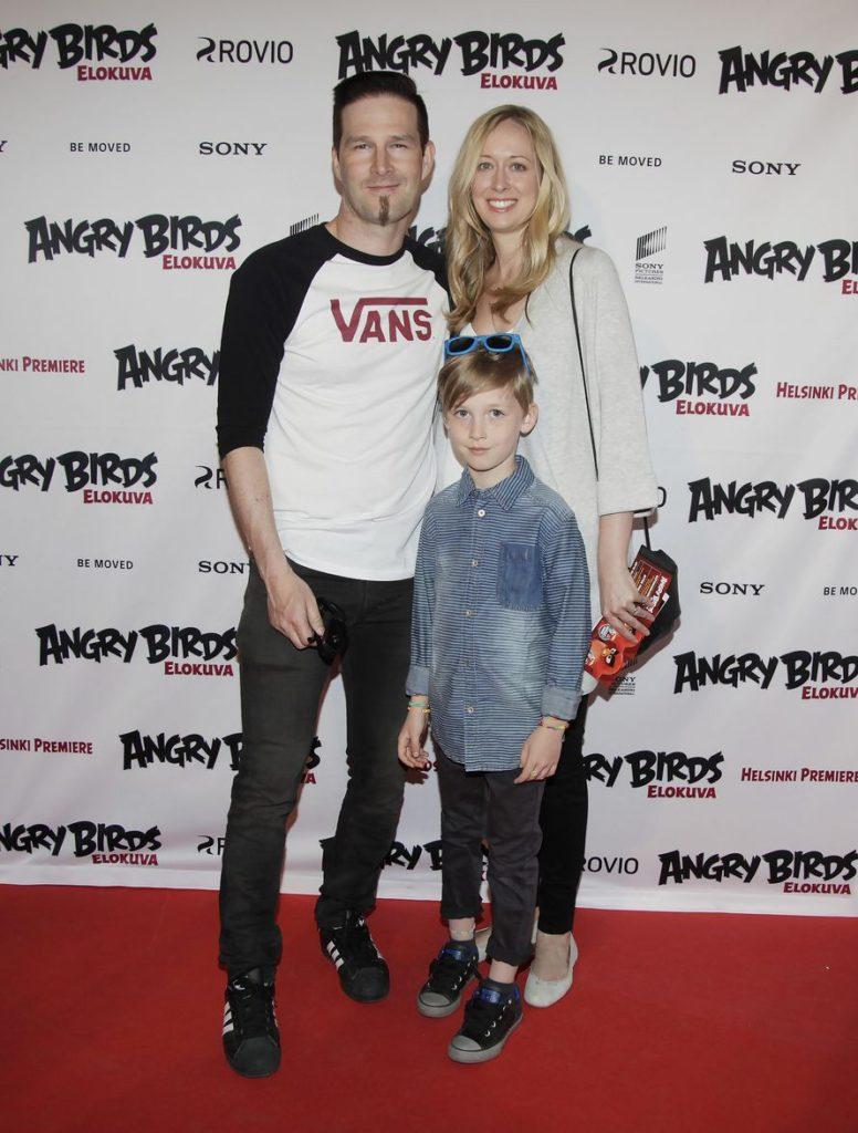 Вилле «Darude» Виртанен с женой Мишель и сыном Акселем
